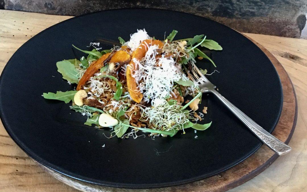 Einkorn wheat & roasted vegetable salad