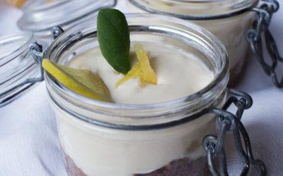 Lemon, lime & ginger cheesecake