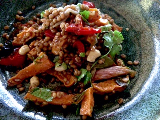 Sweet potato & barley salad