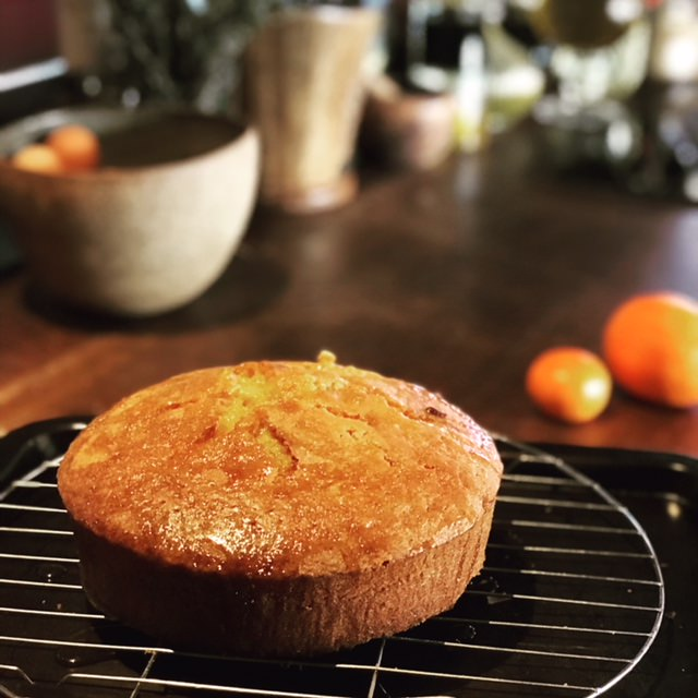 Orange , almond & polenta cake