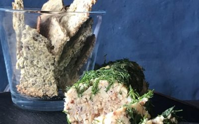 Vegan nut loaf with fresh herbs