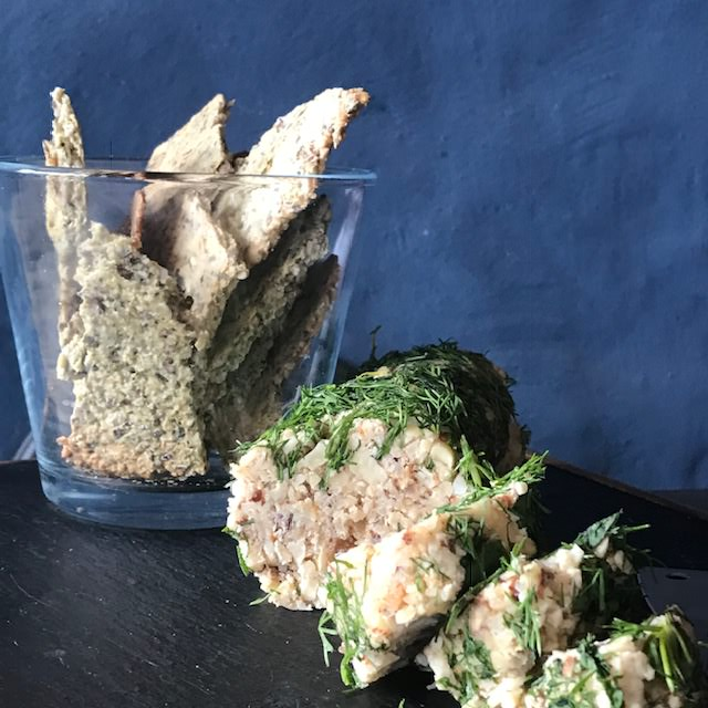 Vegan nut loaf with fresh herbs